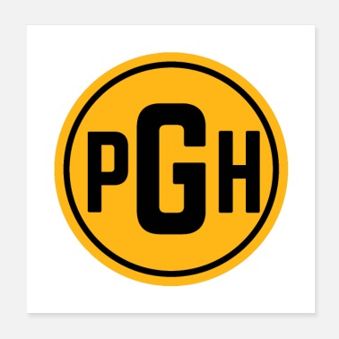 Pitt Pittsburgh PGH Circle Gifts - Poster