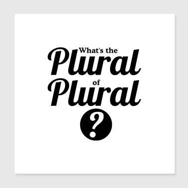 what s the plural of plural - Poster 8x8