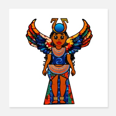 Isis Colorful Egyptian Goddess Isis - Poster