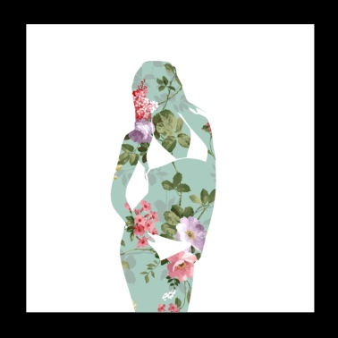 Floral Women - Poster 8x8