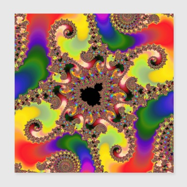 Mandelbrot Set Fractal in Full Spectrum of Color - Poster 8x8