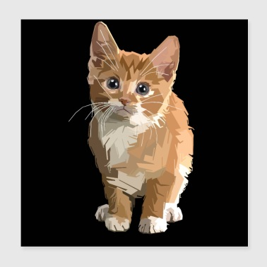cute kitten cat - Poster 8x8