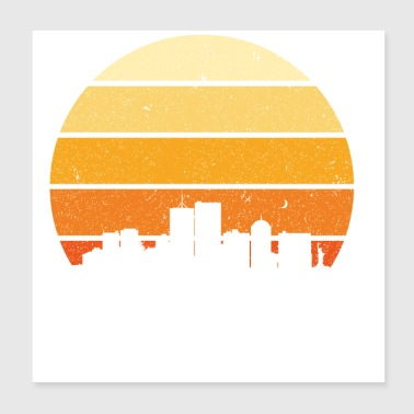 New York Sunset - Poster 8x8