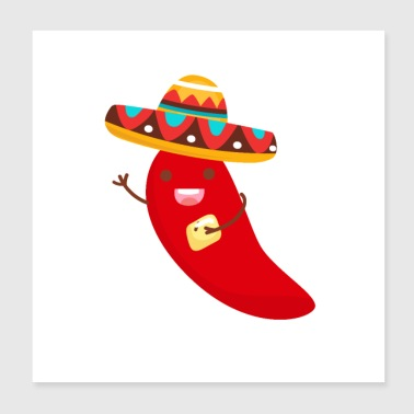 Cinco De Mayo Pepper Design - Poster 8x8