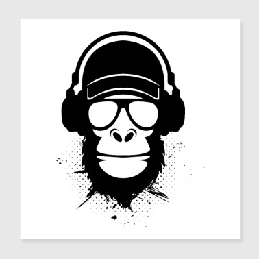 cool dude monkey - Poster 8x8