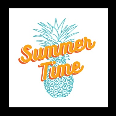 Summer time Pineapple T-shirt - Poster 8x8