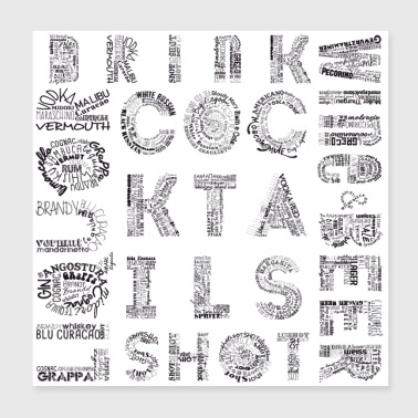 All Drinks Tag Cloud - Poster 8x8