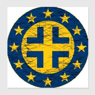 Shop Roman Cross Wall Art online   Spreadshirt