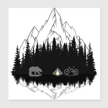 Camping - Poster 8x8