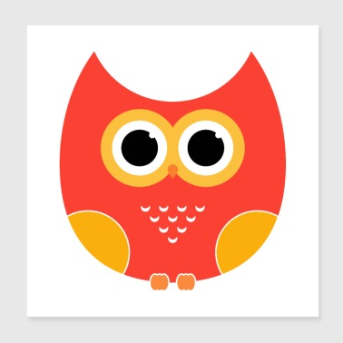 cartoon Owl - Poster 8x8