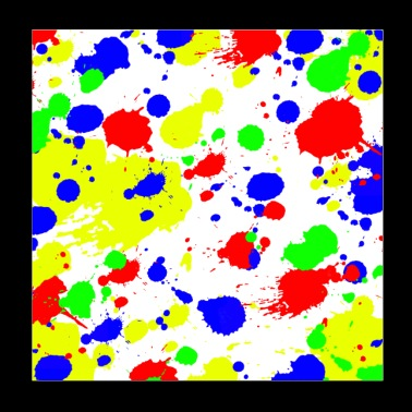Simple Colorful paint Splatter Pattern. - Poster 8x8