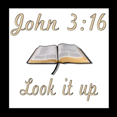 John 3:16 Look it Up - Poster 8x8