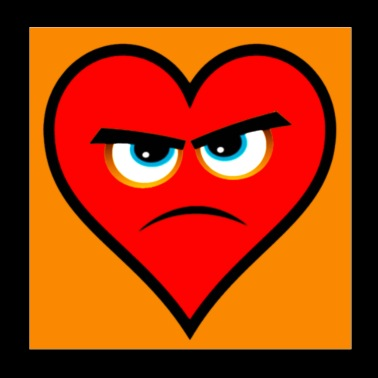 Heart Series Love Angry Hearts - Poster 8x8