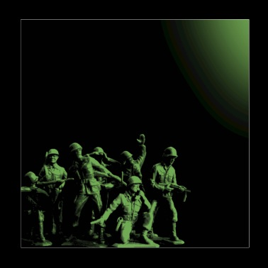 Plastic Army Man Battalion Black and Green - Poster 8x8