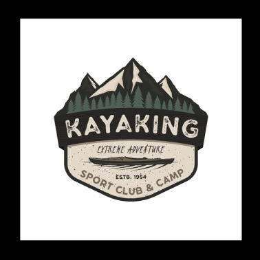 Kayaking Sport Club and Camp - Poster 8x8