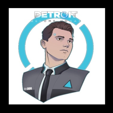 Detroit Become Human Connor T shirt - Poster 8x8