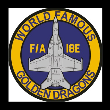 F/A-18 Rhino VFA-192 Golden Dragons - Poster 8x8