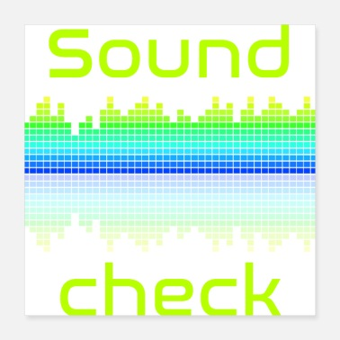 Audio Soundcheck Audio Spectrum - Poster 16x16