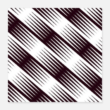 Whitewater Black and white jagged edge seamless pattern - Poster
