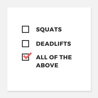 Humor Squats and Deadlifts Gym Humor Attire - Poster 16x16