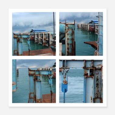 Thailand Harbour & Rust 01 - Poster 16x16