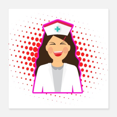 Nurse Nurse Heart Labs Design - Poster 16x16