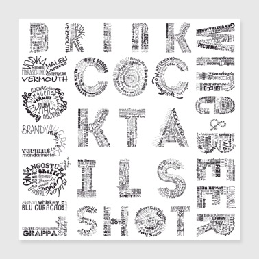 Shot All Drinks Tag Cloud - Poster 16x16