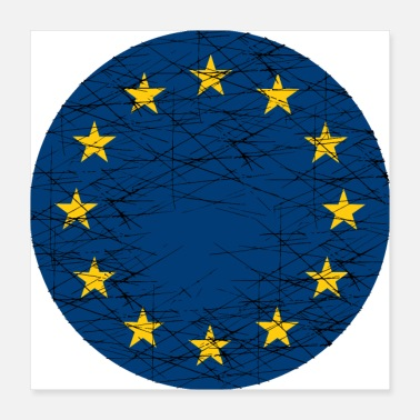 Eu EU European Union Flag - Poster 16x16