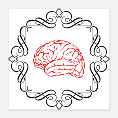 Clever Brain In A Frame - Poster 16x16