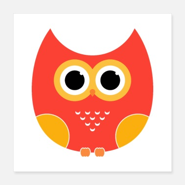 Children cartoon Owl - Poster 16x16