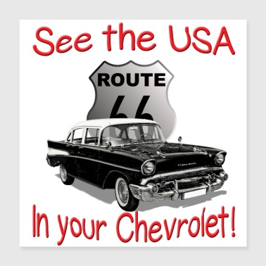 Usa See The USA In Your Chevrolet! - Poster 16x16