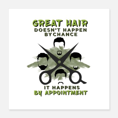 Scissors Haircutter Barber Cut Barbershop Hair Stylist Gift - Poster 16x16