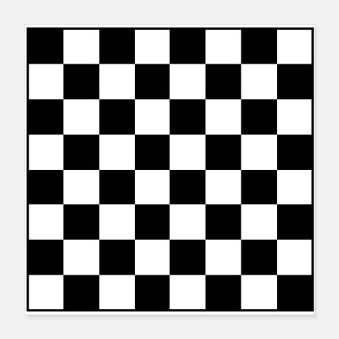 Square chess - Poster