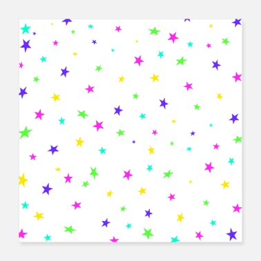 Star Colorful stars - Poster