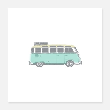 Hippie Movement Hippie Van - Poster 16x16