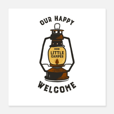 Wilderness Our Happy Welcome Little Camper - Poster 16x16