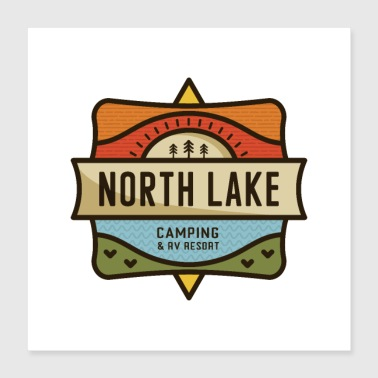 North Lake Camping - Poster 16x16