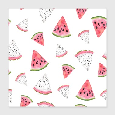 Different Dragon fruit Pitaya Pitahaya Watermelon Fruit - Poster 16x16