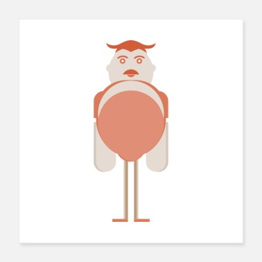 Illustration tall man illustration - Poster 16x16