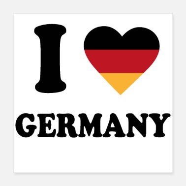 Germany I love Germany - Poster 16x16
