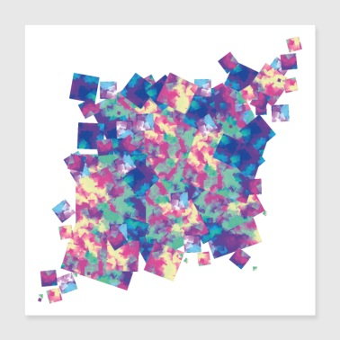 Cube Color Chaos - Poster 16x16