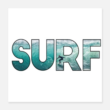 Surfing surfer ocean surfing gift wave shaka windsurf sea - Poster 16x16