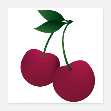 Cherry Tree Sweet cherry fruit strawberry gift cherry tree - Poster 16x16
