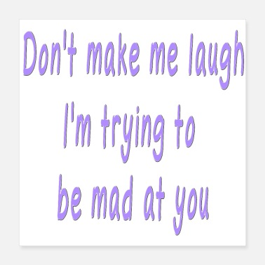 Laugh Funny Quote Cute Saying about Laughing - Poster 16x16