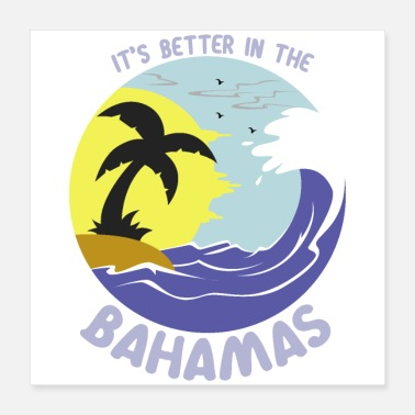 Baltic Sea Bahama Waves - Poster 16x16