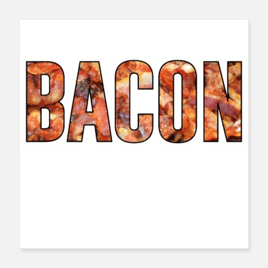 Fathers Bacon ham bacon barbecue season gift father - Poster 16x16