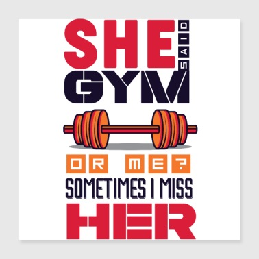 Lifting Gym or Girlfriend weights dumbbell biceps - Poster 16x16