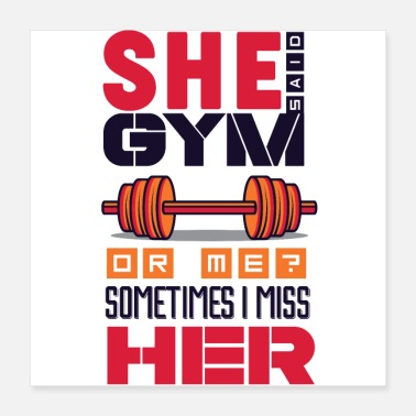 This Guy Loves His Girlfriend Gym or Girlfriend weights dumbbell biceps - Poster 16x16