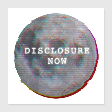 Font Disclosure Now Glitch Moon - Poster 16x16