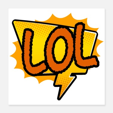 Lol Sticker LOL laugh out loud gift idea - Poster 16x16